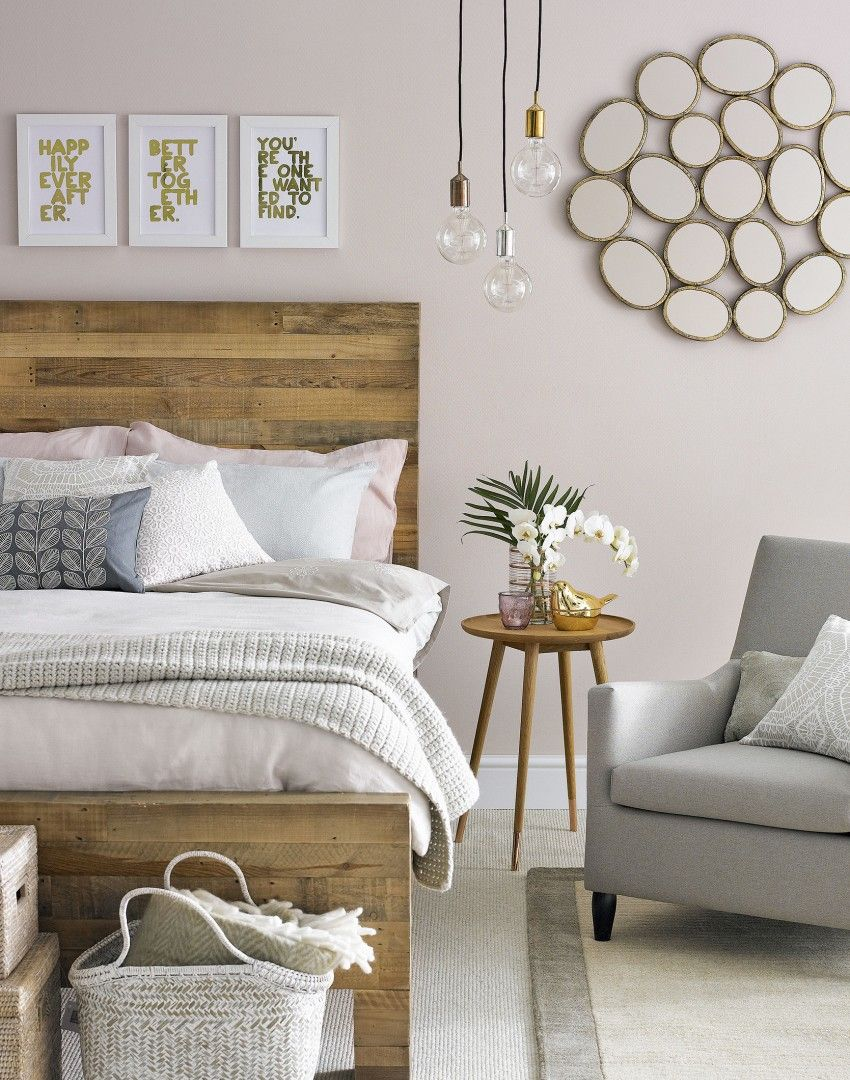 Pink And Grey Bedroom Decor Soft Pink Bedroom With Wooden Headboard Home Bedrooms And