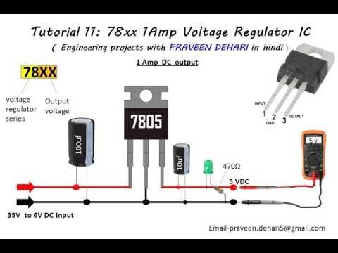 Magnificent Tutorial 11 78Xx Series 1Amp Voltage Regulator Ic Engg Projects Wiring Cloud Pendufoxcilixyz