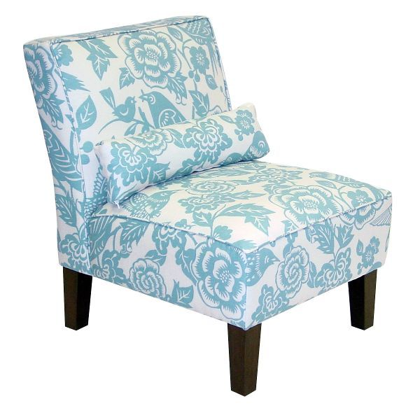Best Canary Robin Blue Armless Chair Upholstered Chairs 400 x 300