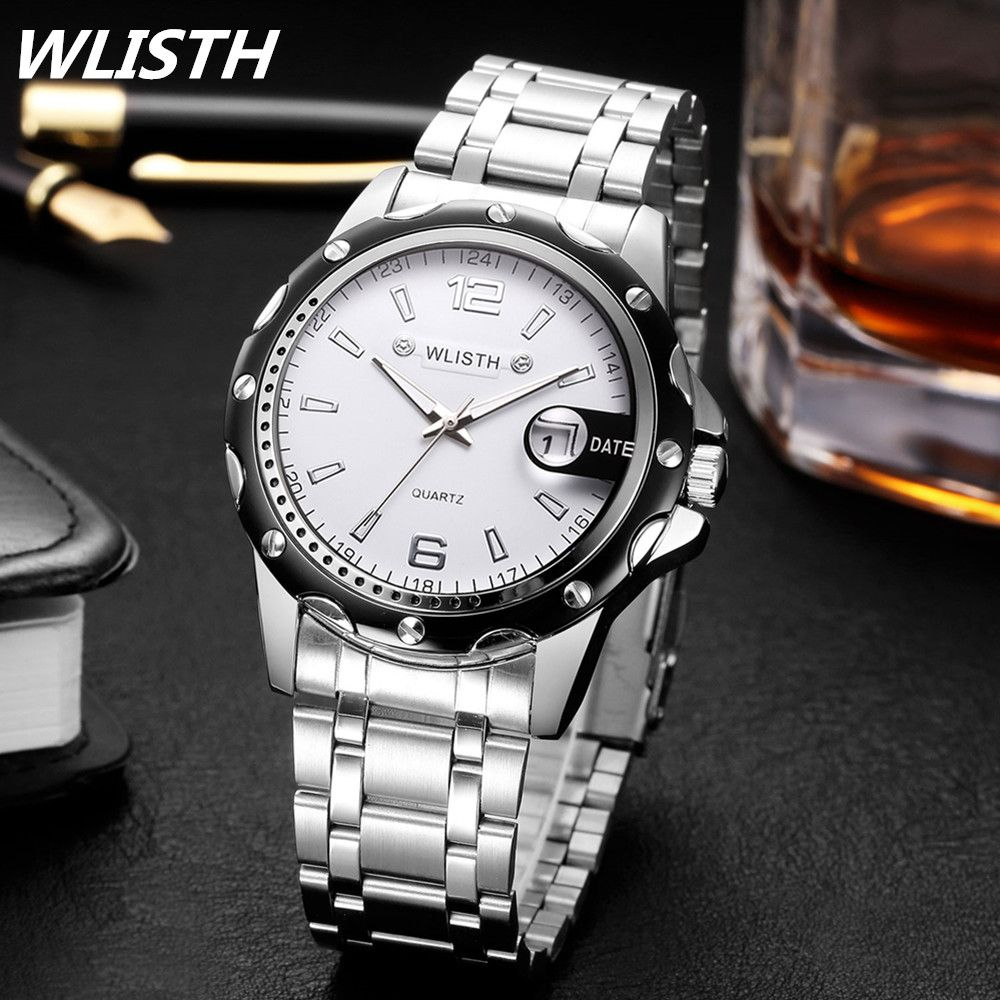 WLISTH Watches Mens Watches Top Brand Luxury Men Military Wrist Watches  Full Steel Men Sport Watch f9478f2ce70a