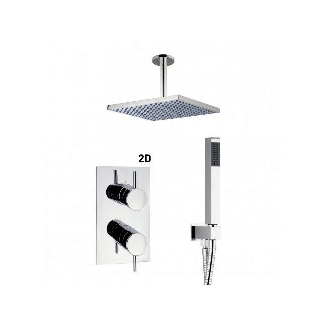 Crosswater Recessed Shower Valve Kit With Square Ceiling Fixed Shower And Outlet Hose Cross569 Sme018 Buy Shower Kits From Shower Valve Shower Kits Shower
