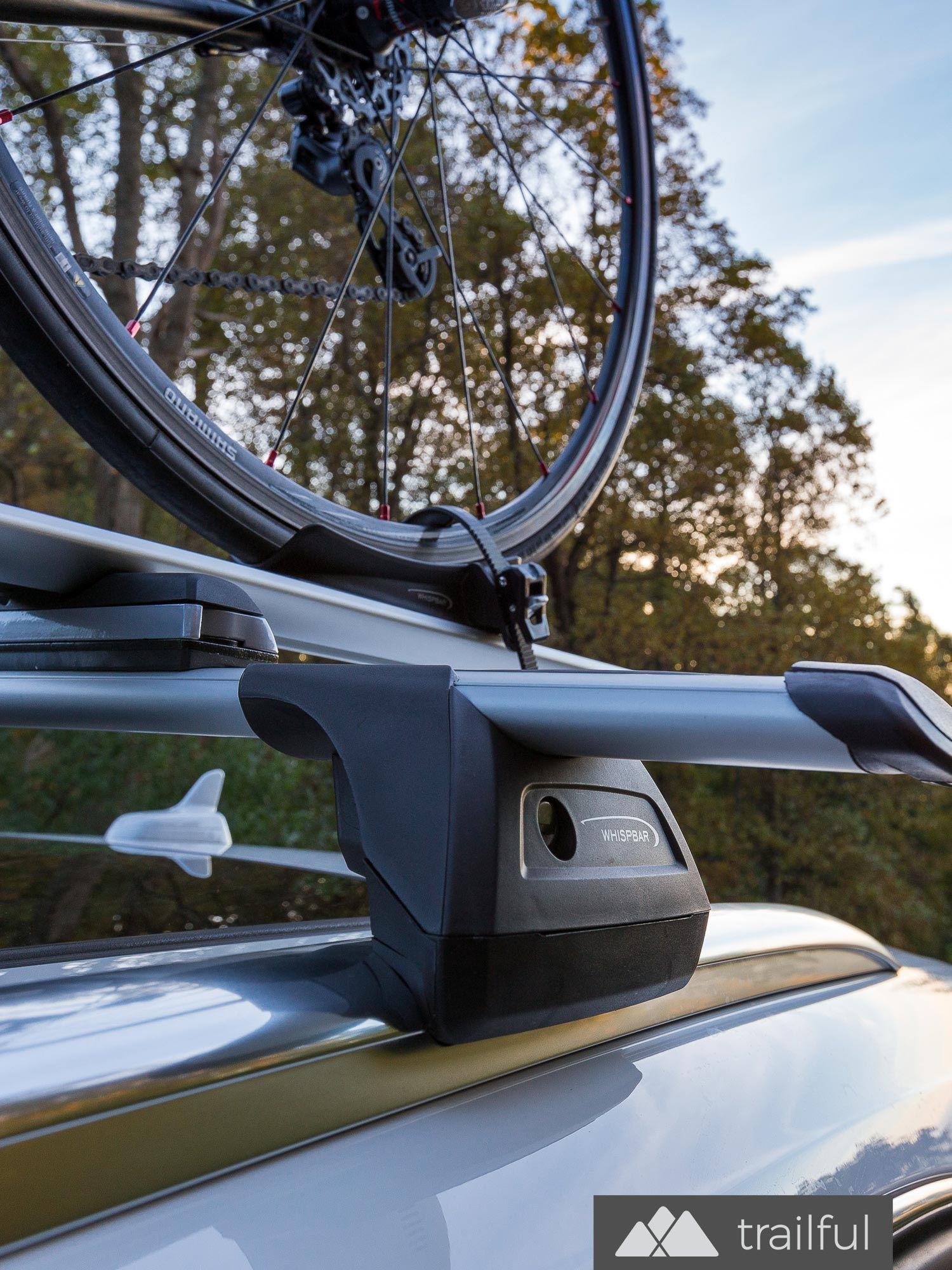 Yakima Whispbar Roof Rack Bike Mount Review Trailful Metal Roof Modern Roofing Roof Repair