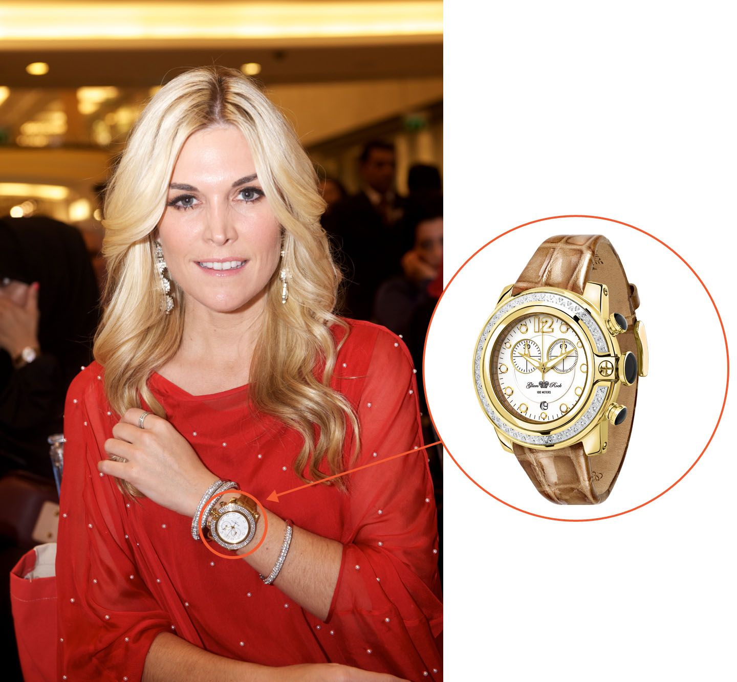 Tinsley mortimer in her sobe watch in dubai celebrities in glam rock pinterest glam rock for Celebrity rocks watches