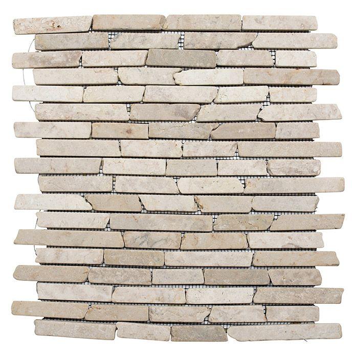Mosaikfliese Biancone Mos Brick 105 Natursteinmosaik