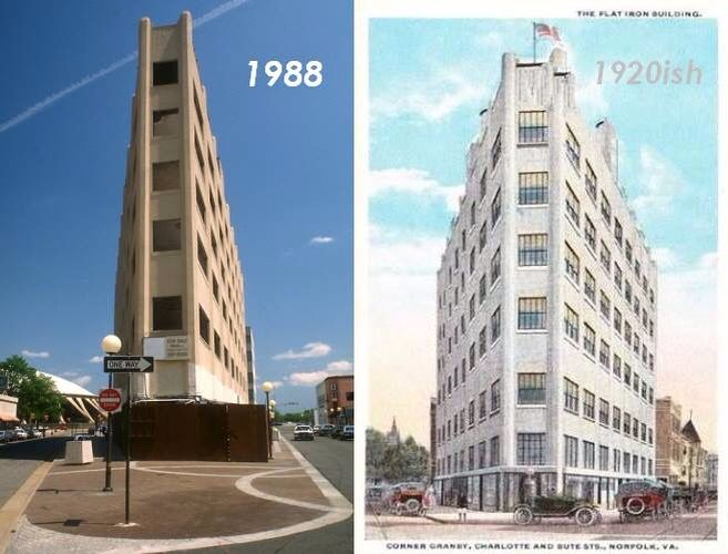 Norfolk S Flatiron Building Built In 1918 Demolished In 1991