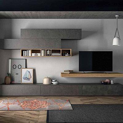 Minimalist  anthracite tv unit beautiful design high quality materials my italian living also rh co pinterest