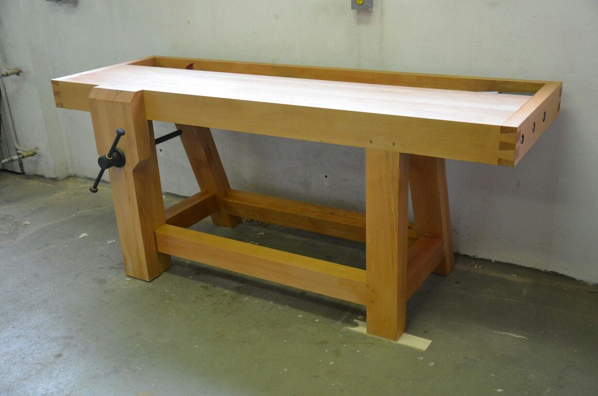my french style roubo workbench made from beech equipped