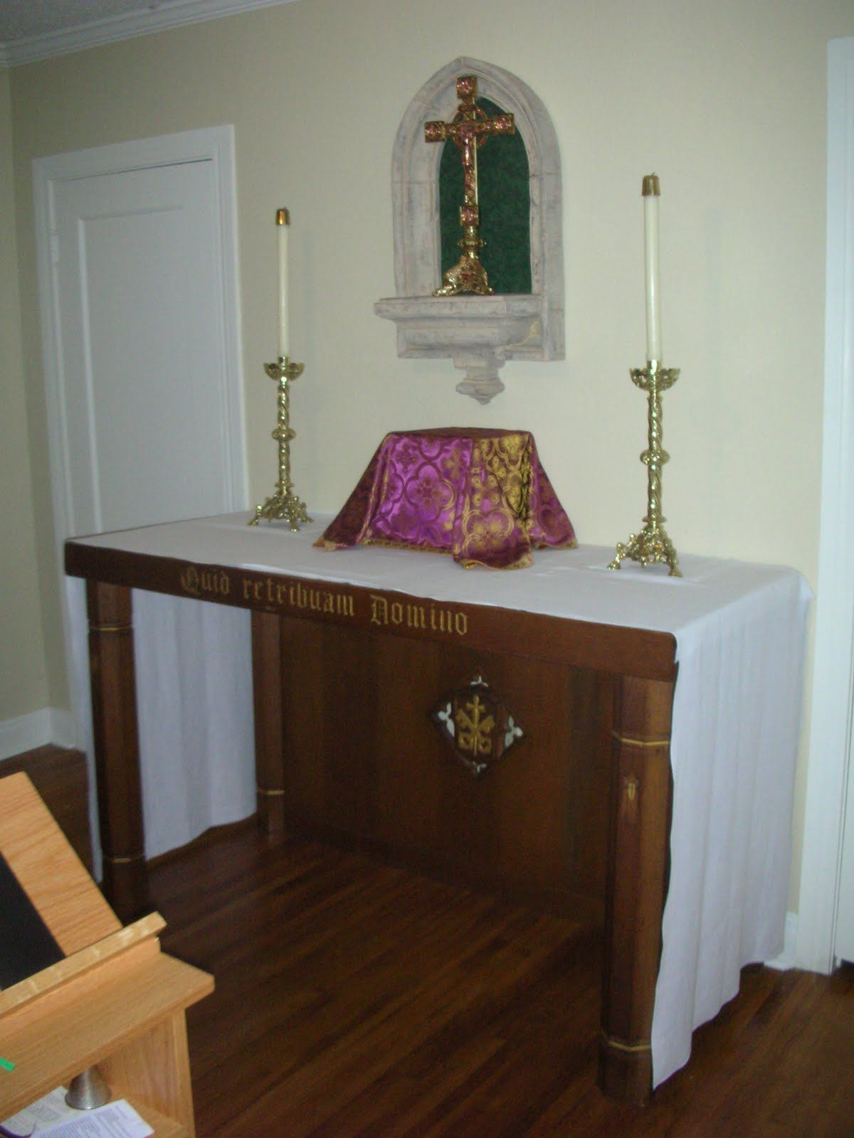 Catholic home altar ideas google search prayer room pinterest prayer corner prayer room - Home altar designs ...