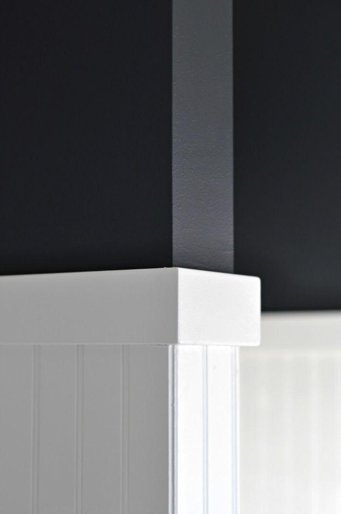 Bathroom Update Black Walls Black Walls Black Painted Walls White Kitchen Paint