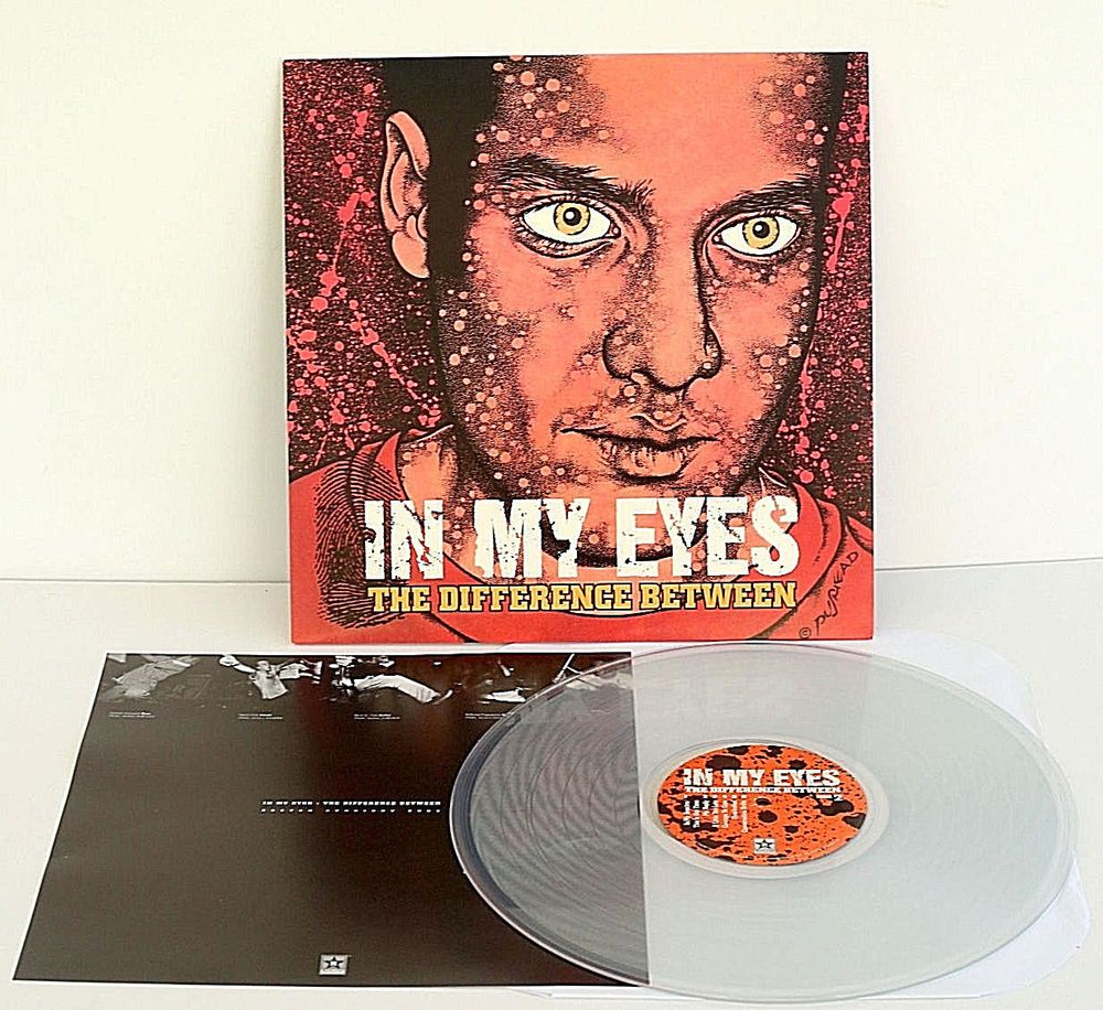 In My Eyes The Difference Between Lp Record Clear Vinyl Pushead Artwork Punkhardcorepunknewwave Clear Vinyl Records Vinyl