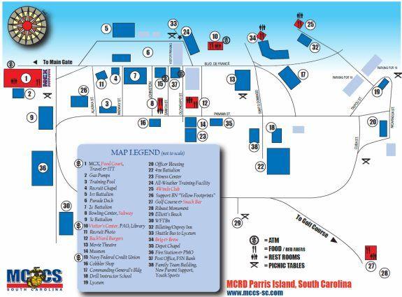 Map Of Parris Island Marine Corps Recruit Depot