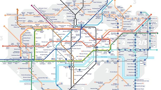 Transport For London Map.Transport For London Unveils New Walking Maps For City S