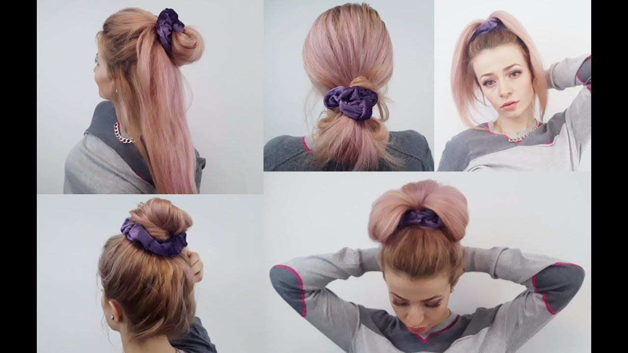 Super easy hairstyles quick and easy scrunchie hairstyles awesome