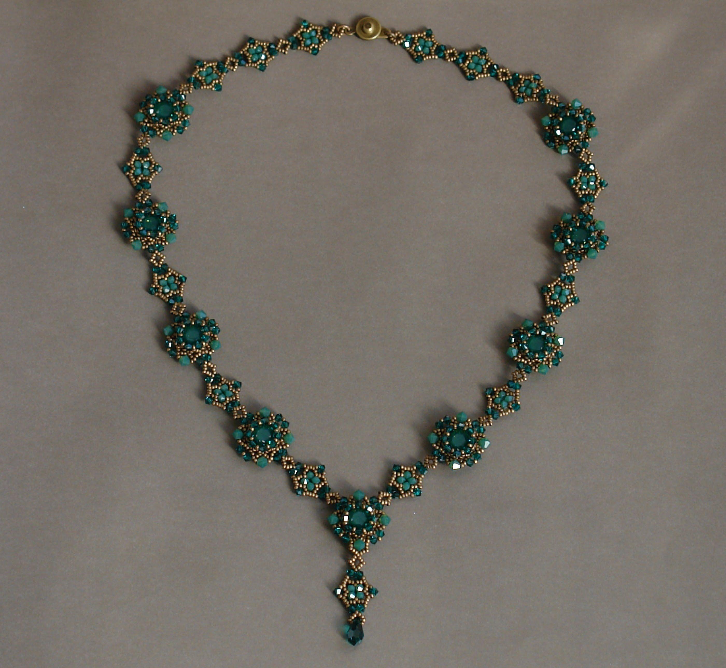 Sidonia's handmade jewelry - Sweet Romance beaded necklace tutorial