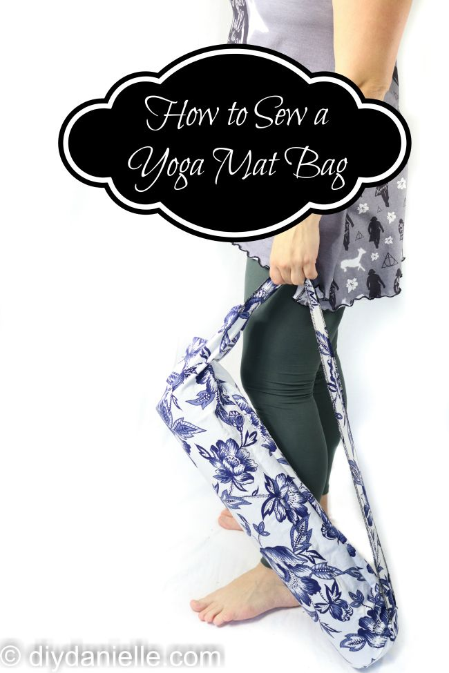 How to Make an Easy Yoga Mat Bag | craft | Costura, Patrones et Bolsos