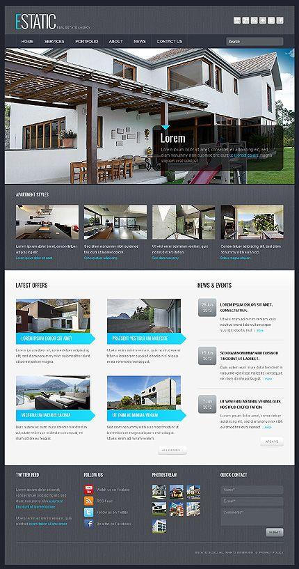 Premium Real Estate WordPress Themes Wordpress Website Designs - Real estate template wordpress