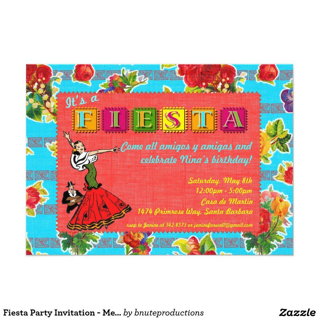 Magnificent Fiesta Party Invitation Festooning - Invitations and ...