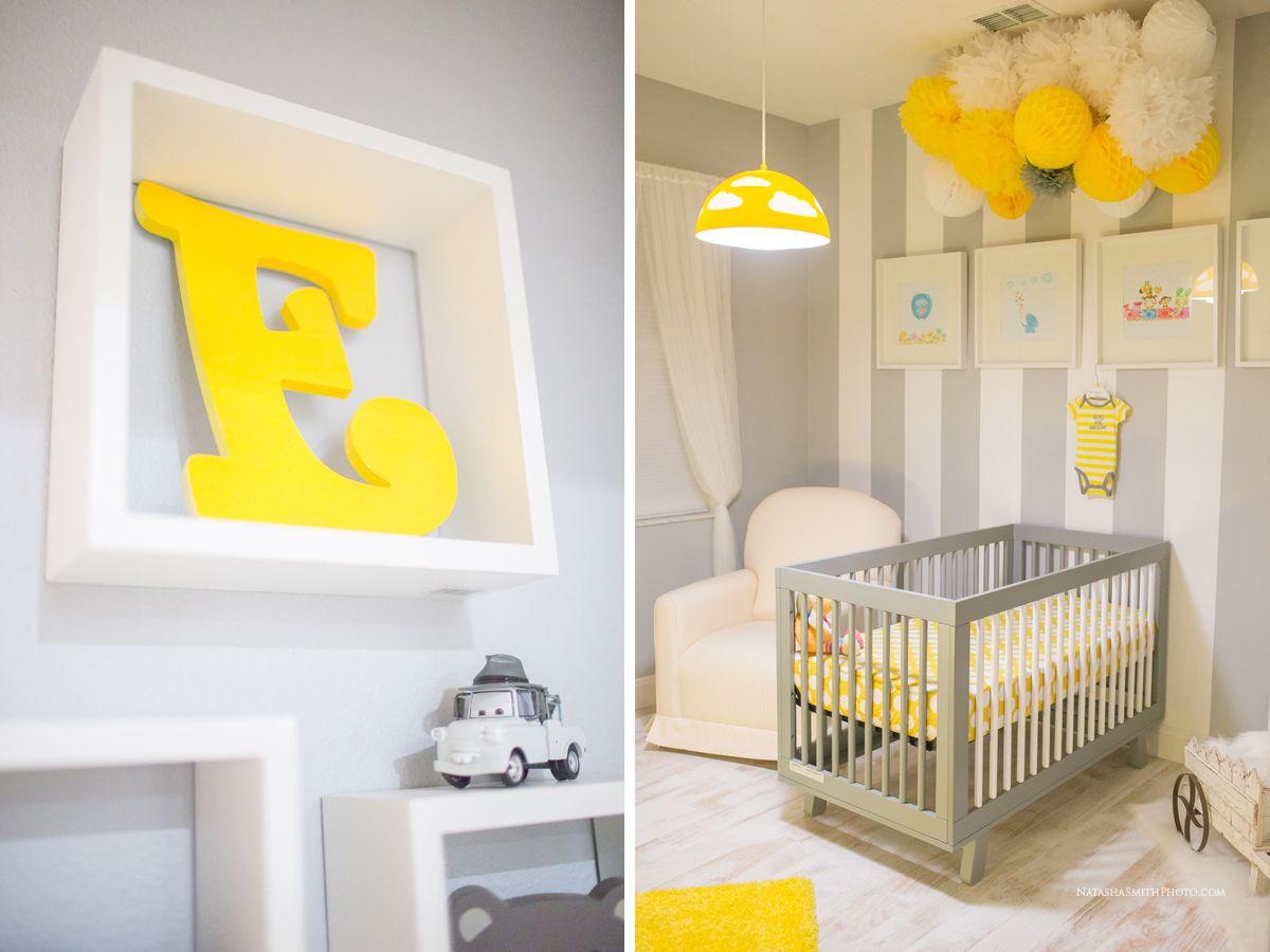 Baby crib nursery yellow gray my yellow gray nursery - Tapices pared ikea ...
