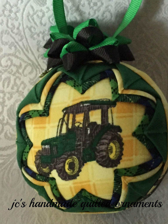 JOHN DEERE Quilted Ornament Made From John Deere Fabric,John Deere ...