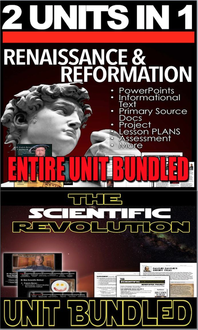 worksheet Scientific Revolution Worksheet renaissancescientific revolution unit bundled 2 units in 1 1