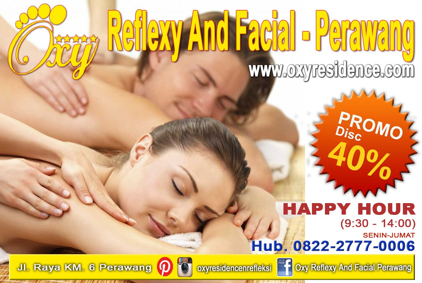 Oxy family Reflexy dan facial cabang di Jl. Raya KM. 6 Perawang atau hub 0822-2777-0006 & dapatkan discount 40% selama Happy Hour(9:30-14:00), Senin-Jumat . #oxyreflexyperawang #oxyfamilyrefleksi #perawang #refleksi #facial #promo