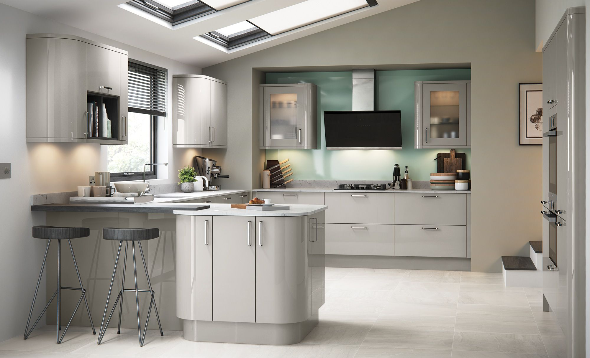 Grey kitchen modern kitchen london by lwk kitchens london - Explore Gloss Kitchen Fitted Kitchens And More