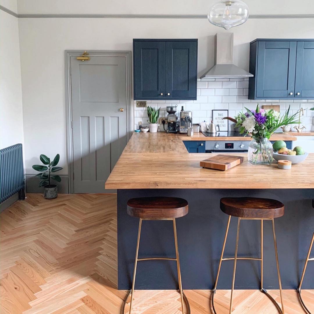 Fairford Navy Kitchen Fairford Kitchen Navy Kitchen Design Kitchen Trends Open Plan Kitchen Living Room