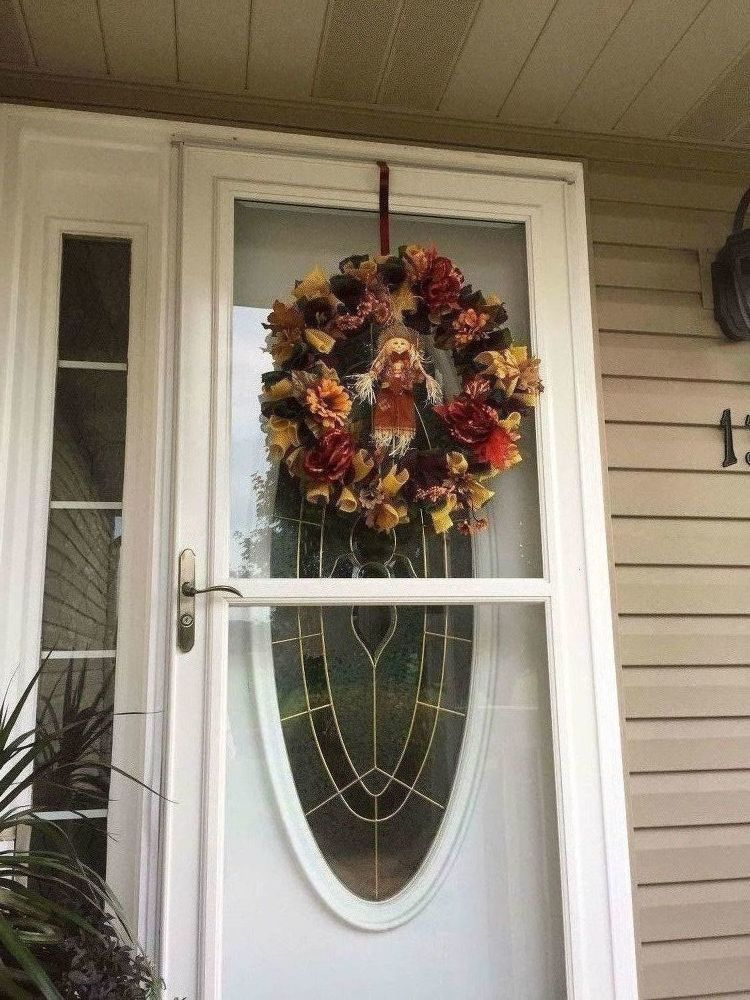 Burlap Fall Wreath images