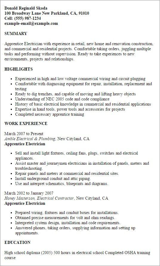 71 new images of resume examples for journeyman