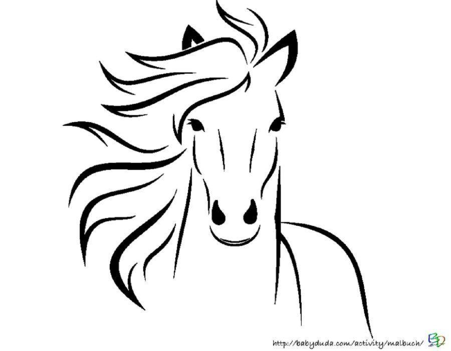 Pferdebilder Ausmalen Pferdekopfe Ausmalbilder Babyduda Malbuch Pferdekopf Pferde Silhouette Pferde Skizze