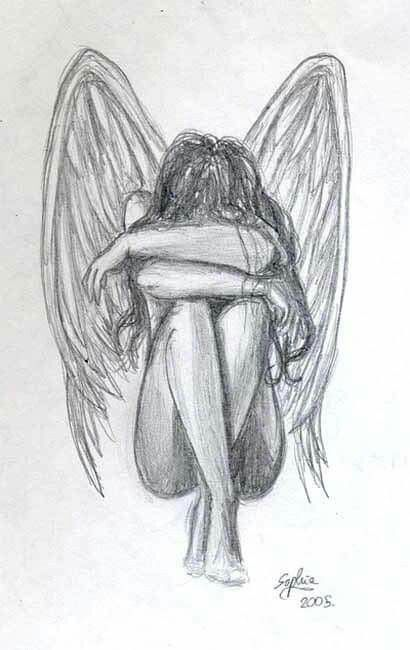 an angel can also lose her mind to reality sketches pinterest