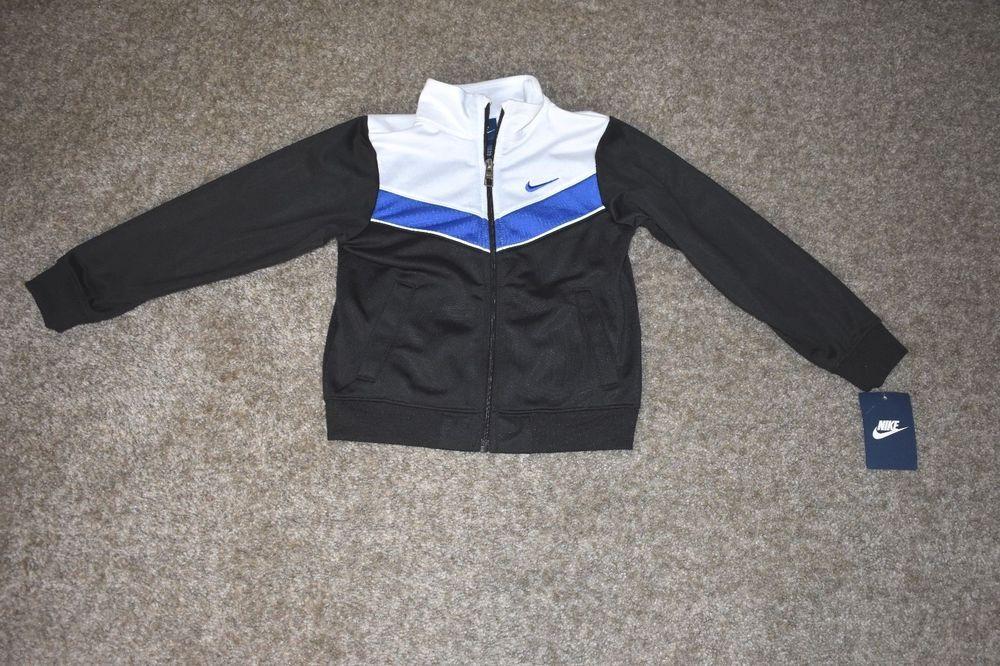 Nike Jacket Bleu Marine Et Blanc 4t