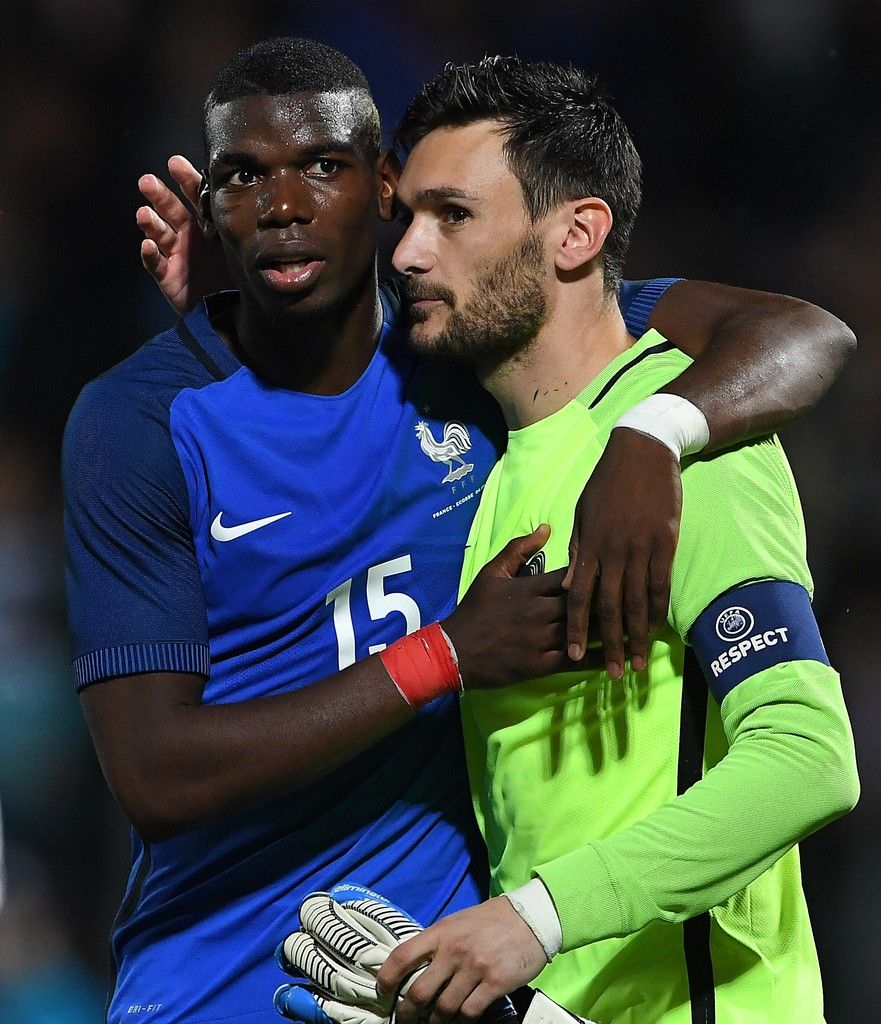 Image result for paul pogba with Hugo Lloris