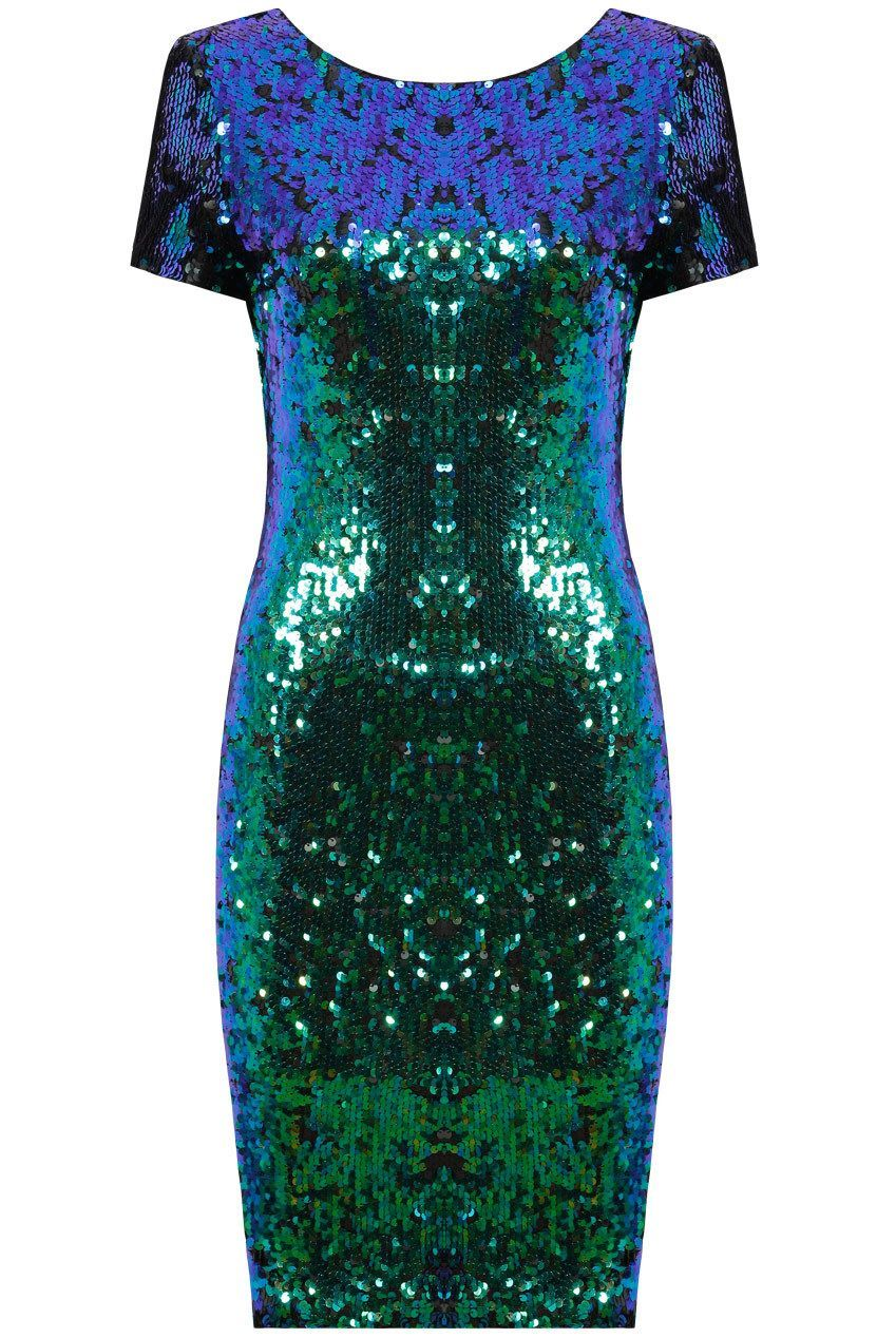 Courtney Iridescent Sequin Bodycon Dress £45 Shop here> www ...