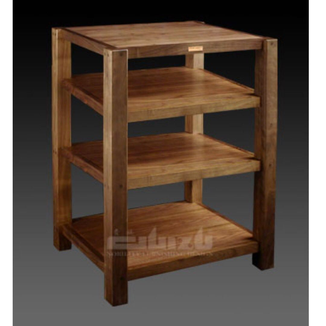 4 Tier Srw 4a Guizu Brand New Solid Wood Audio Rack On Carousell
