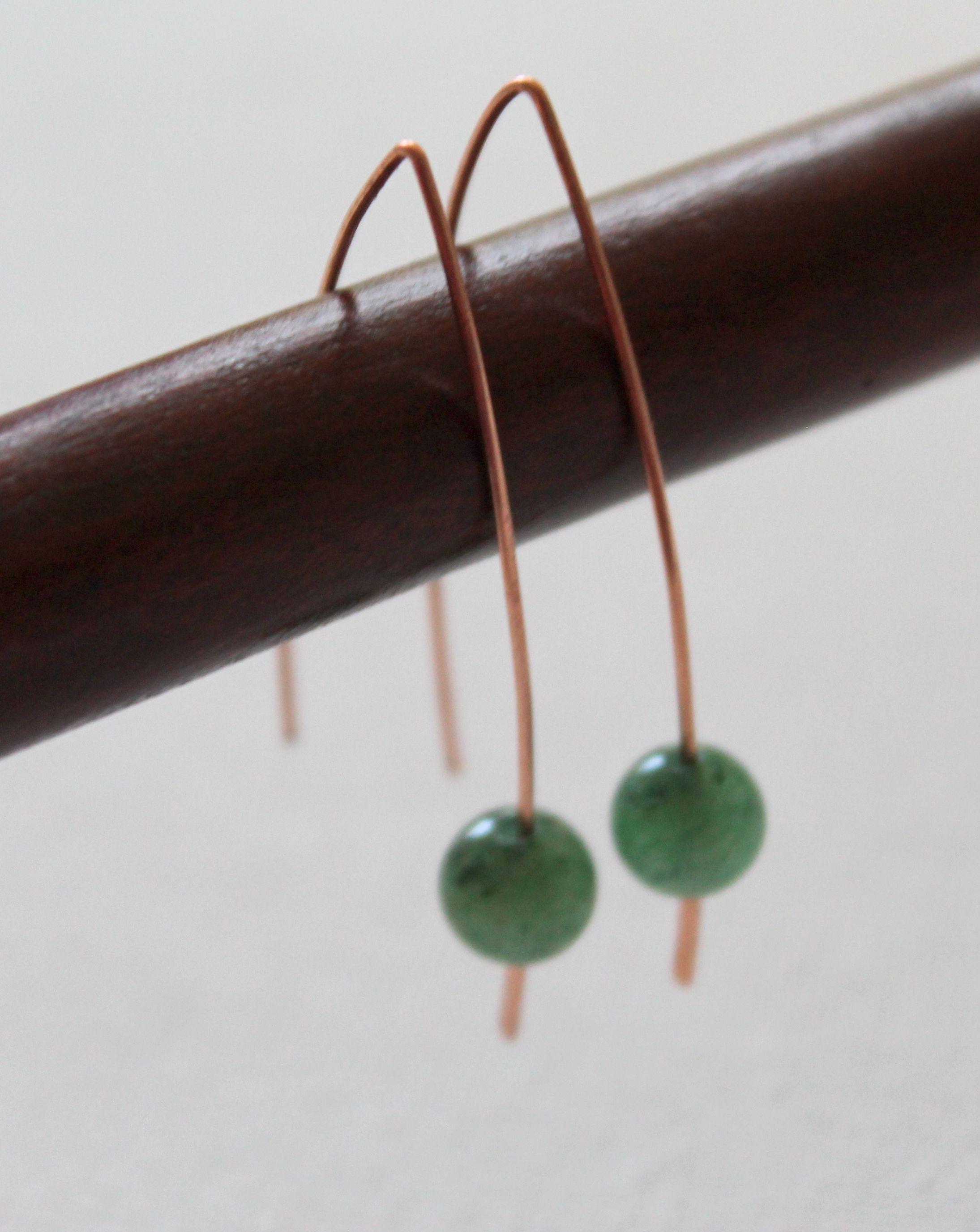 Quick and Easy Wire Earrings   Ev için Fikirler   Pinterest   Wire ...