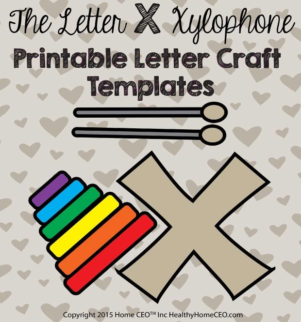 The Letter X Xylophone Printable Letter Craft Template By