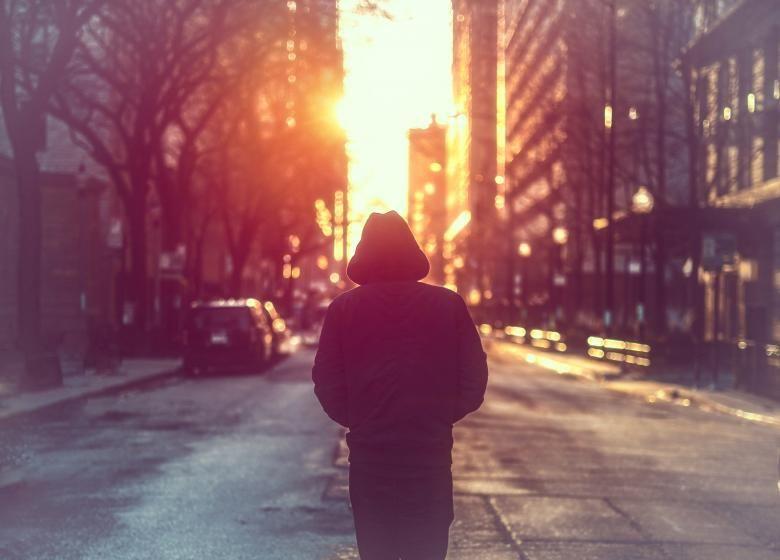 Free Stock Photo Of Man Walking Alone On City Street City Streets Stock Photos Man Photo
