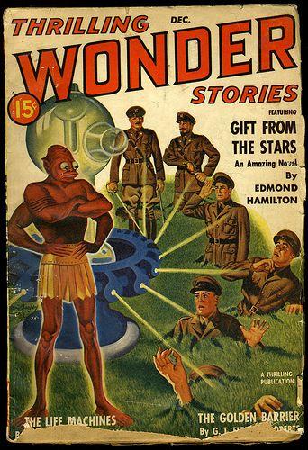 Thrilling Wonder Stories cover by TheDamnМushroom, via Flickr