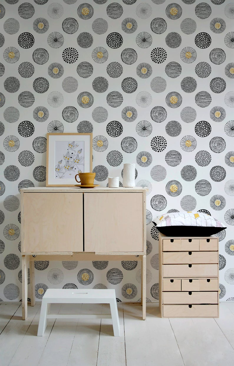 Removable Wallpaper Peel And Stick Wallpaper Wall Paper Wall Etsy Removable Wallpaper Wall Wallpaper Peel And Stick Wallpaper