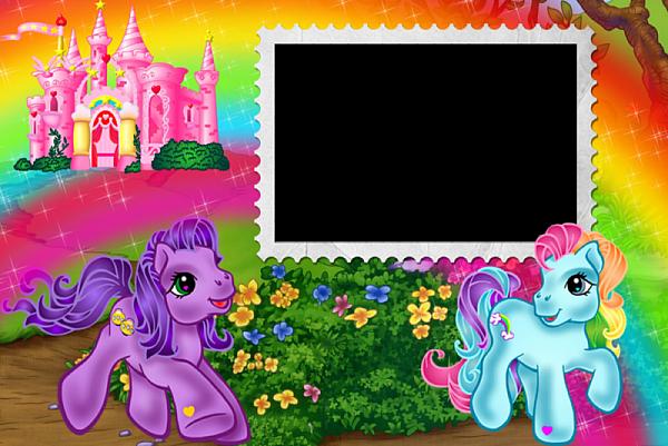 Ponies Kids Transparent Frame Cute Frames Pinterest Pony