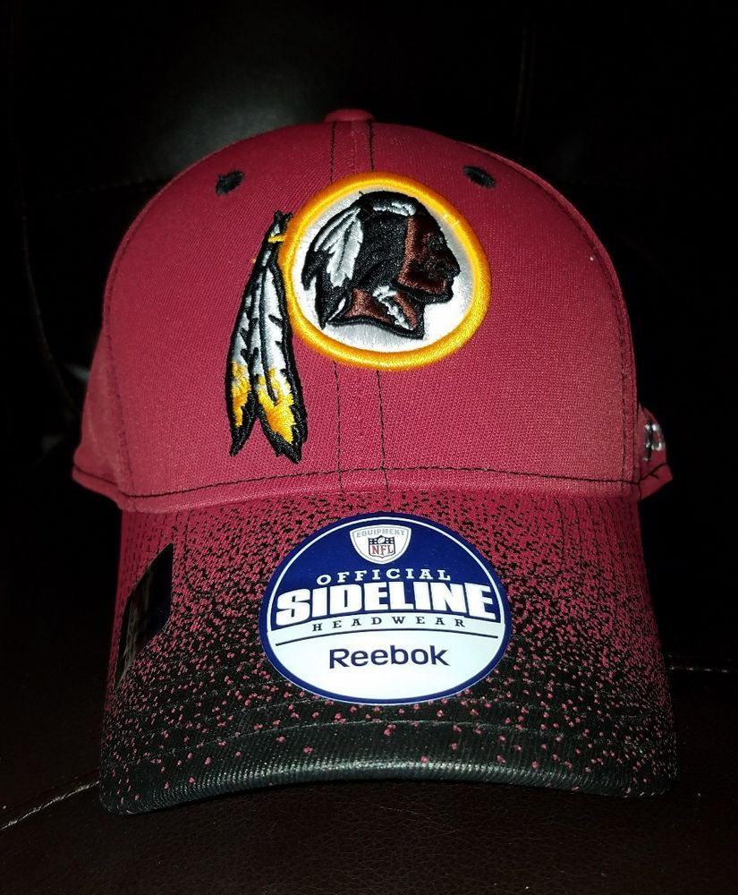 Washington redskins nfl logo reebok sideline hat l xl nwt  1e8f0b839