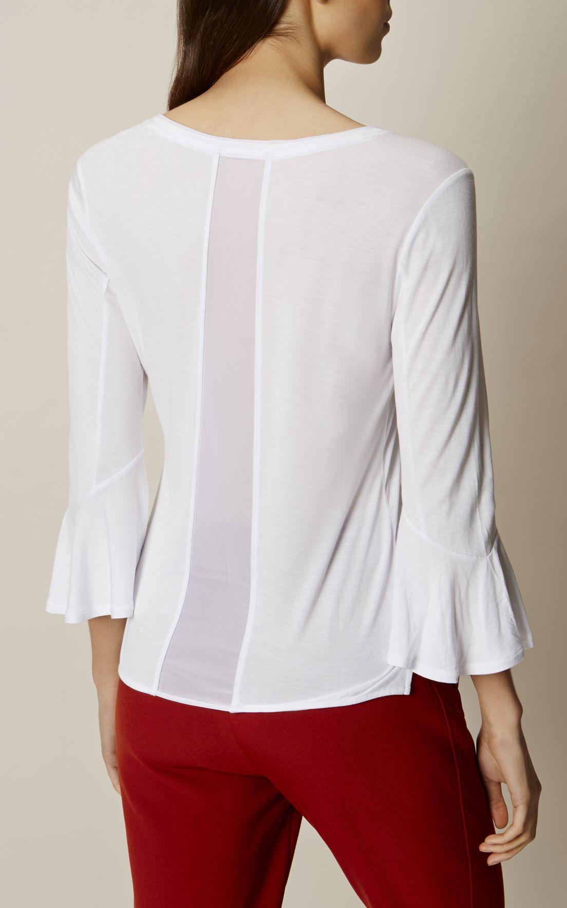 Karen millen white flare sleeve top white clothing pinterest