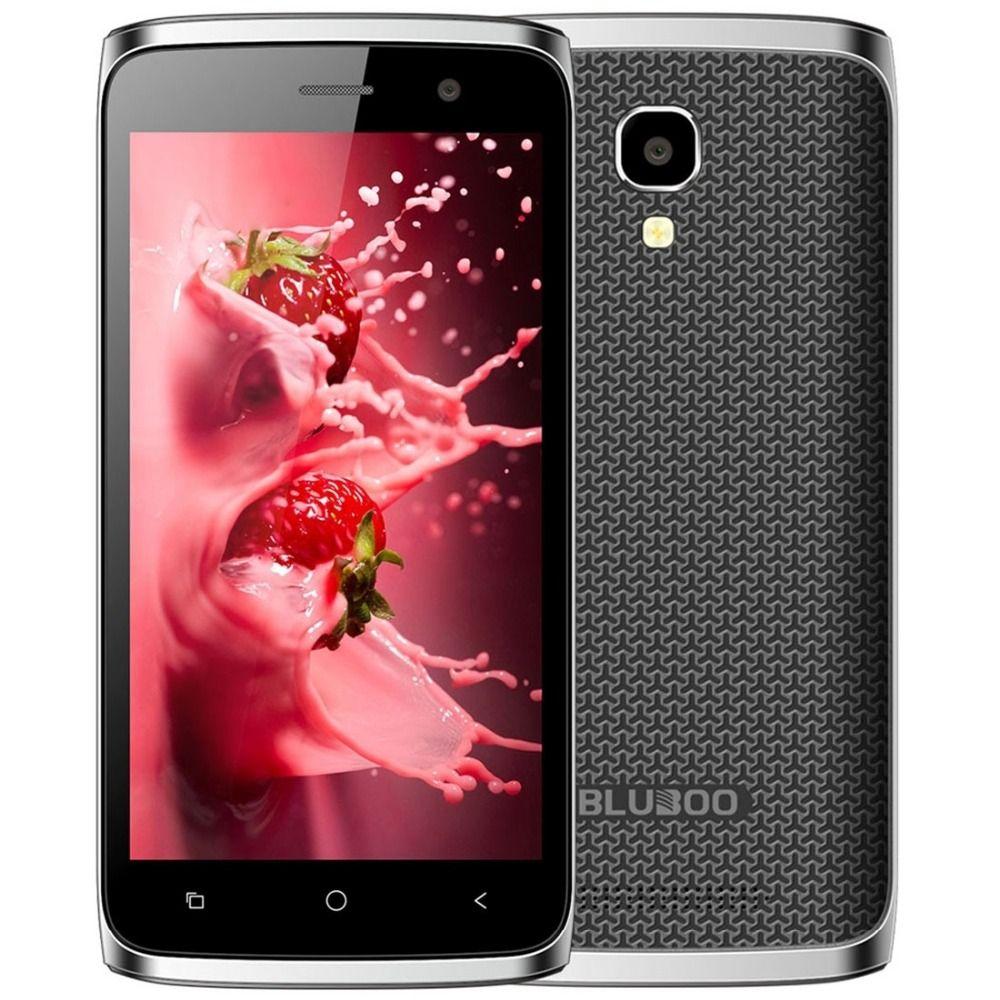 Nueva mt6580m bluboo mini 3g wcdma smartphone android 6.0 quad core 1.3 GHz 1 GB + 8 GB 5.0MP 4.5 pulgadas IPS Pantalla Dual SIM Teléfono Móvil