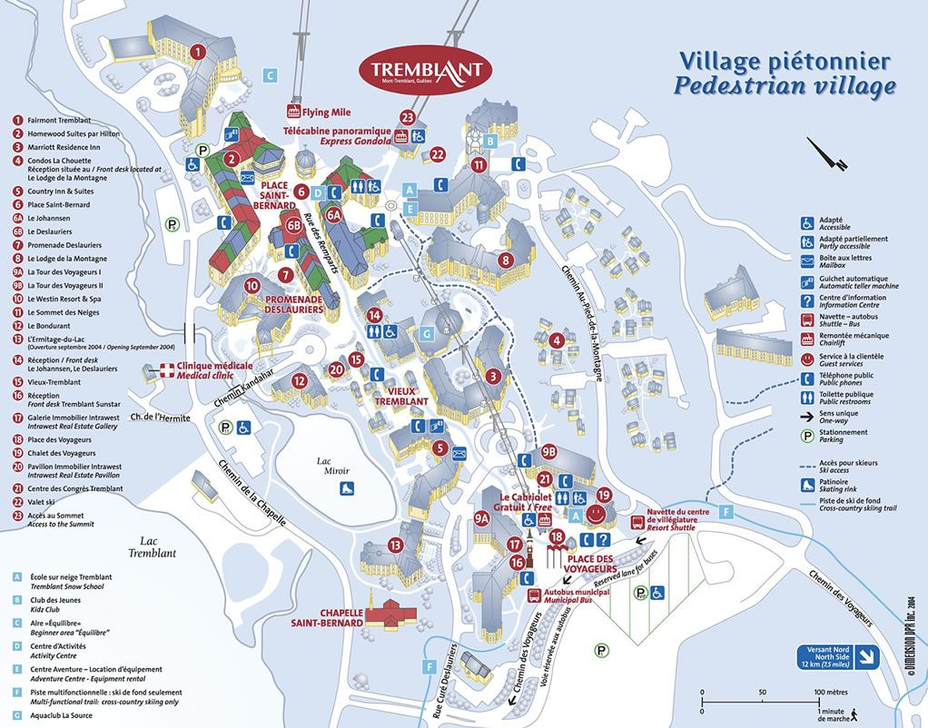 mont-tremblant-resort-map1 | Travel in 2019 | Village map, Tourist on