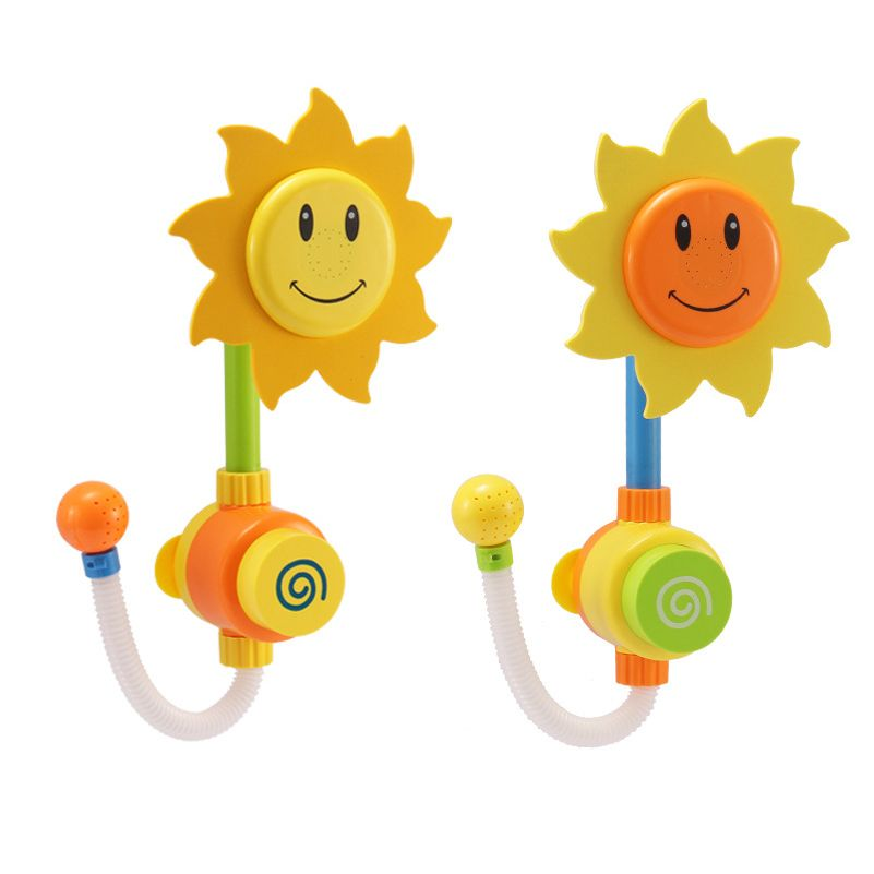 New Born Baby Bath Toys Sunflower Shower Faucet Toy Learning ...