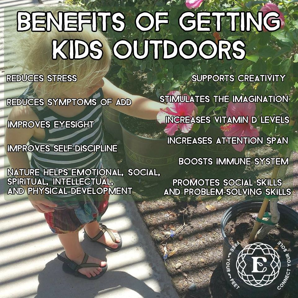 Benefits of getting kids outdoors. #grounding #earthing # ...