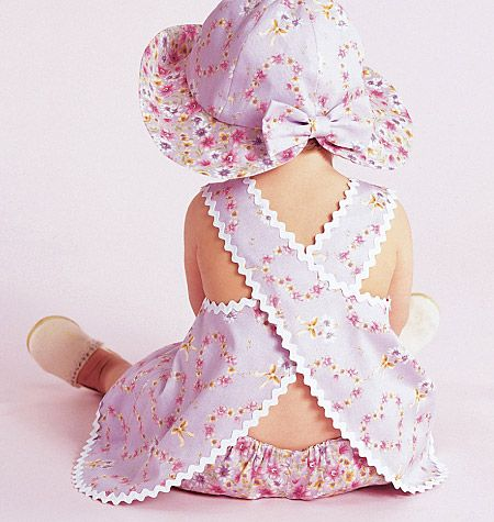 BABY GIRL HAT DRESS REVERSABLE TOP HAT panty SEWING PATTERN  653af0bbfb20