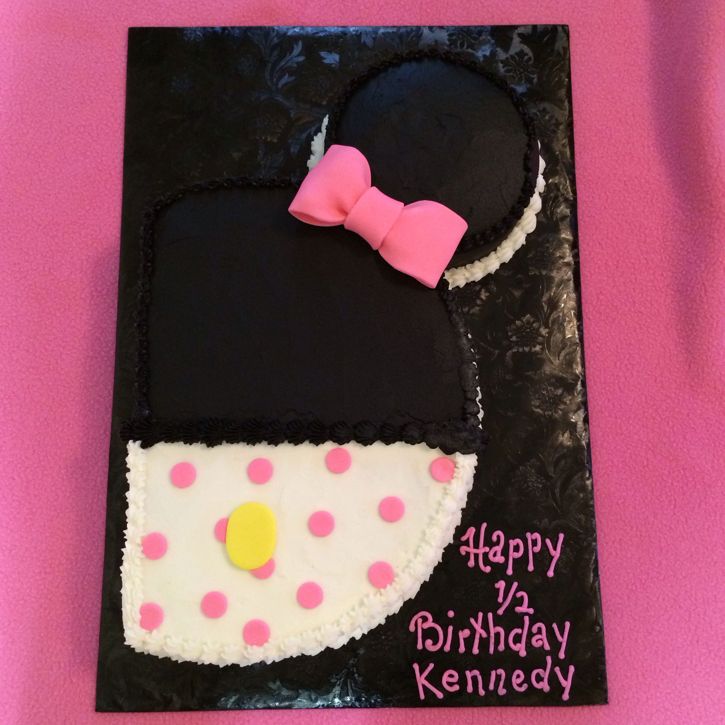 Minnie Mouse Cake Mickey Mouse Cake Half Cake Twin Birthday