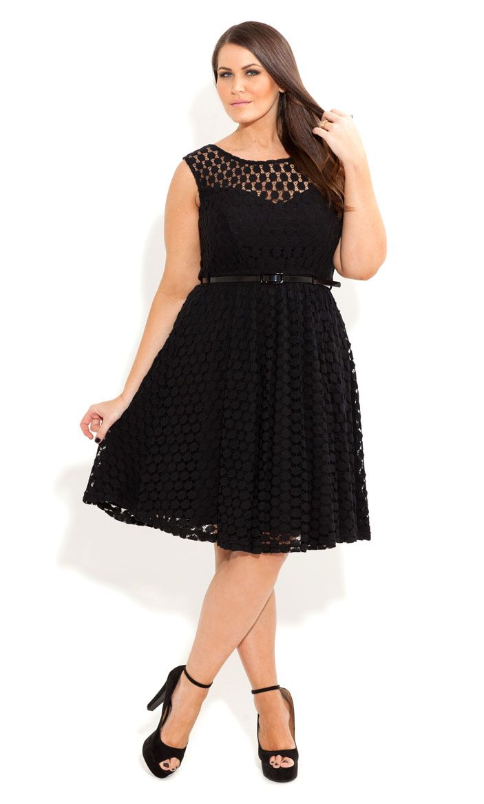 So cute plus size dotprint belted dress big time fashion plus